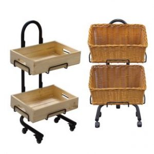 Wooden Crate & Basket Stands