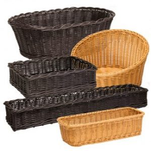 Wicker Display Baskets For Catering