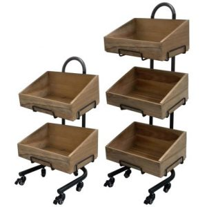 Rustic Crate Stand Sets-Aged