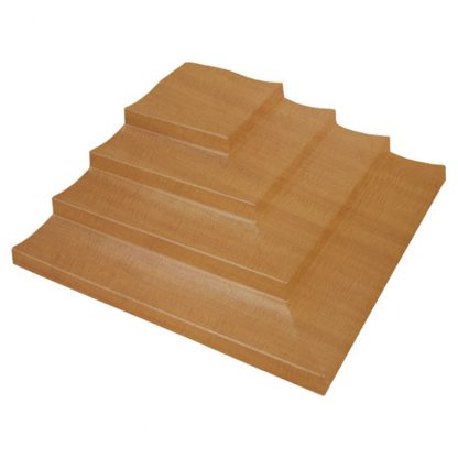 4 Tier Corner Bin Steps Woodgrain giving your products height and volume