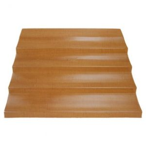 4 Tier Bin Steps Woodgrain giving your pructs height and volume