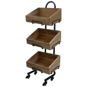 Deli Wooden Crate Stands