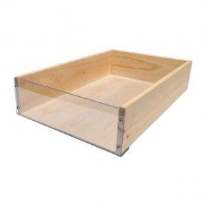 Deli Clear Fronted Wooden Crate