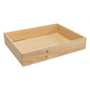 Solid Sided Wooden Crates for Delicatessen
