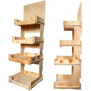 Wooden Shelf Stands for Bottle Shops