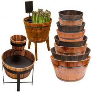 Wooden Display Barrels & Stands