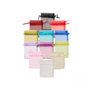 Organza Drawstring Pouches - 75 x 100mm